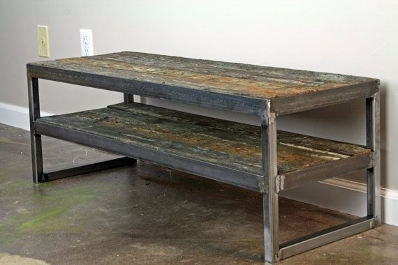 Great Series Of Metal And Wood TV Stands In Buy A Hand Crafted Reclaimed Wood Tv Stand Minimalist Media (Image 18 of 50)