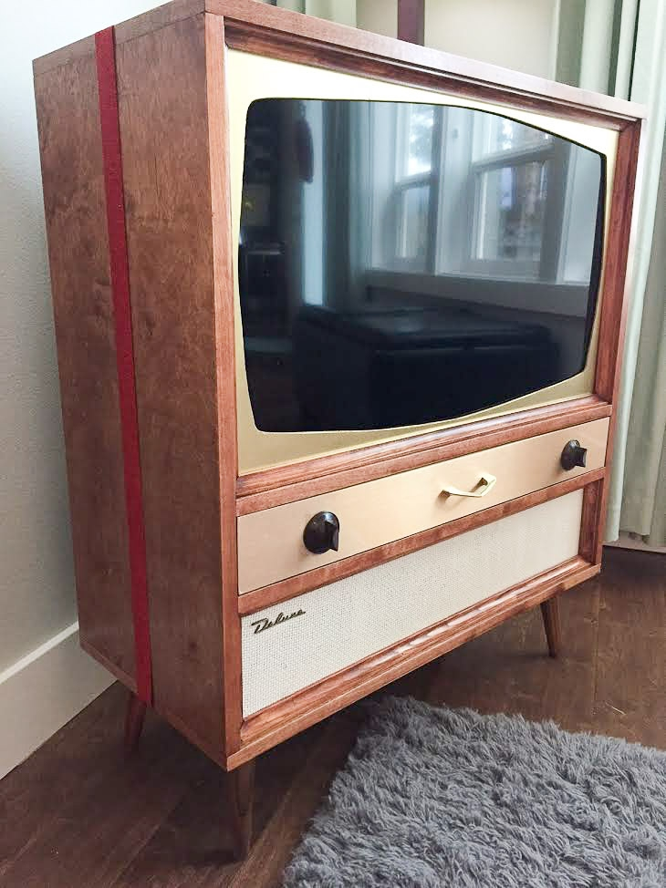 Great Series Of Modern TV Cabinets For Flat Screens Inside Jeff Builds A Midcentury Modern Tv Cabinet For His Flat Screen Tv (Image 22 of 50)