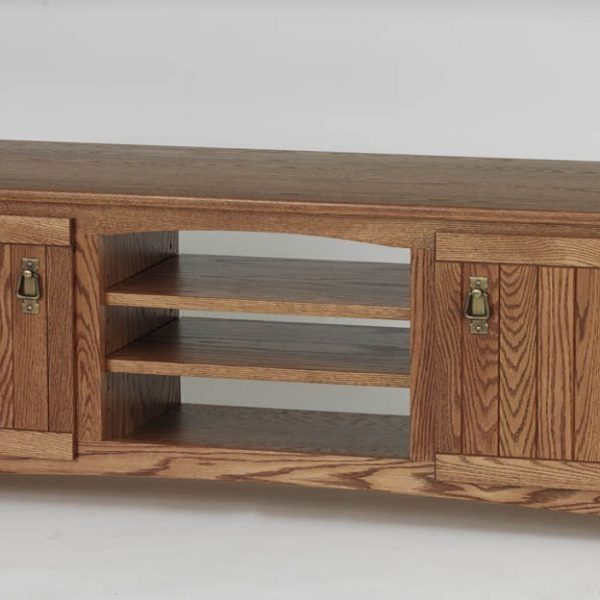 Great Series Of Oak TV Stands Throughout Solid Oak Mission Style Tv Stand Wcabinet 60 The Oak (Image 25 of 50)