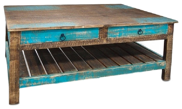 Great Series Of Rustic Coffee Table Drawers With Regard To Revived Wood Coffee Table Beach Style Coffee Tables (View 34 of 50)