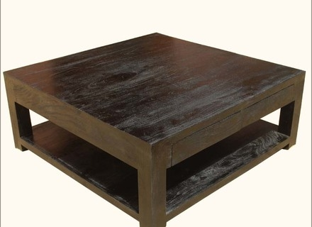 Great Series Of Square Dark Wood Coffee Tables Throughout Large Square Dark Wood Coffee Table Missionportland (Image 23 of 50)