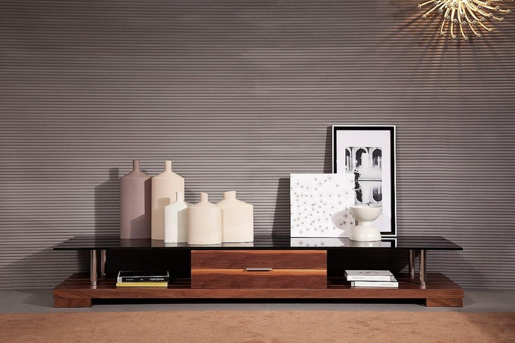 Great Series Of Walnut TV Stands For Flat Screens Throughout Living Room Contemporary Tv Stand Design Ideas For Living Room (Image 24 of 50)