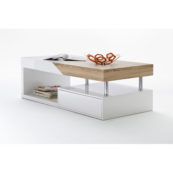 Great Series Of White And Oak Coffee Tables With White And Wood Coffee Table (Image 24 of 50)