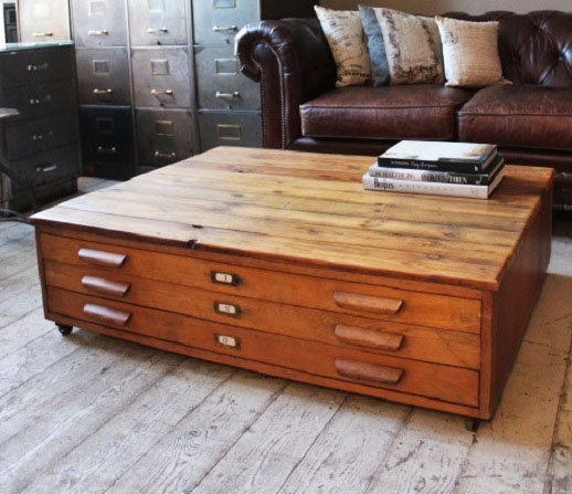 Great Series Of Wooden Trunks Coffee Tables Within Coffee Table Chest Iron Hill Chest Of Drawers Rustic Industrial (View 9 of 40)