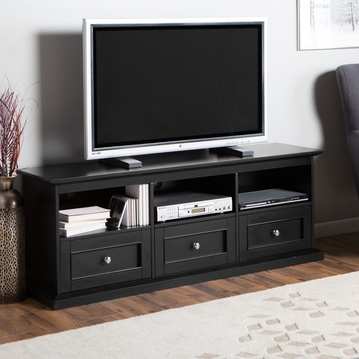 Featured Image of Black TV Stands With Drawers