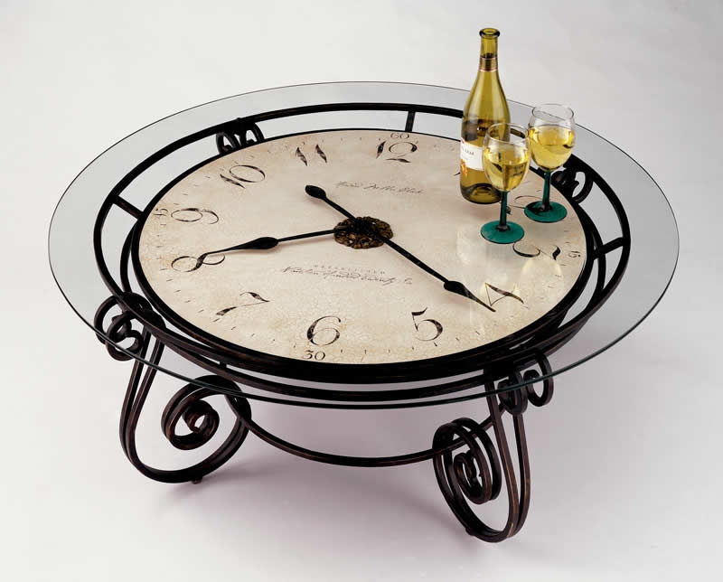 Great Top Coffee Tables With Clock Top Inside Howard Miller Antique Ravenna Cocktail Coffee Table Clock  (Image 22 of 40)