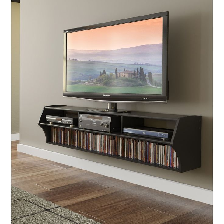 Great Top Corner TV Stands With Bracket Regarding Best 25 Floating Tv Stand Ideas On Pinterest Tv Wall Shelves (Image 19 of 50)