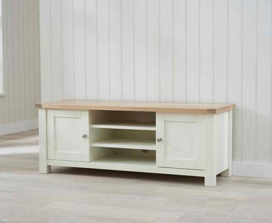 Great Top Cream TV Cabinets For Sandringham Oak And Cream Tv Cabinet Morale Home Furnishings (Image 21 of 50)