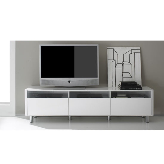 Great Top Large White TV Stands With Regard To Elton Lcd Tv Stand In White High Gloss With Led Lights (Image 26 of 50)