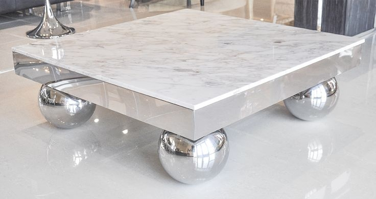 Great Top Marble Coffee Tables Pertaining To Coffee Tables Design Stainless Steel Marble Coffee Tables For (View 42 of 50)