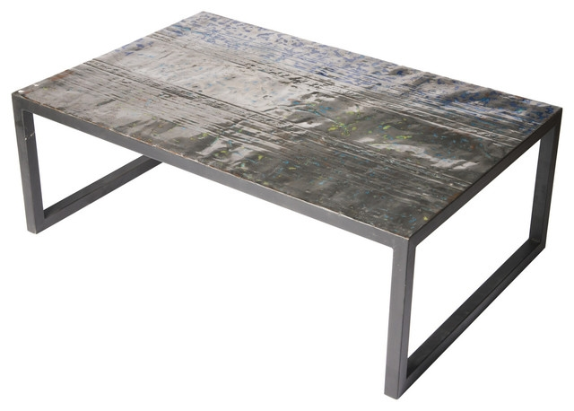 Great Top Metal Coffee Tables In Large Metal Recycled Oil Drum Coffee Table Industrial Coffee (Image 28 of 50)