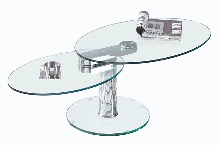 Great Top Revolving Glass Coffee Tables Inside Oval Rotating Coffee Table (Image 21 of 40)