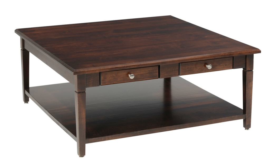 Great Top Square Dark Wood Coffee Tables For Square Dark Wood Coffee Table Home Furniture (Image 24 of 50)