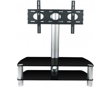 Great Top Stil TV Stands Inside Stil Stand 2053chbl Glass Tv Stand With Swivel (View 16 of 49)