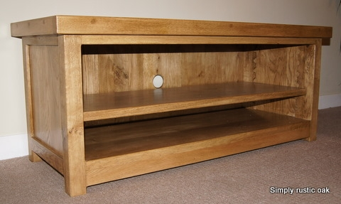 Great Top TV Stands In Oak With Regard To Rustic Oak Tv Stands Handmade Oak Furniture Handmade Rustic (View 11 of 50)