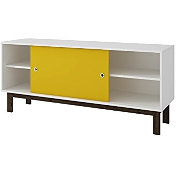 Great Top Yellow TV Stands Inside Amazon Manhattan Comfort Solna Tv Stand Collection Free (View 35 of 50)