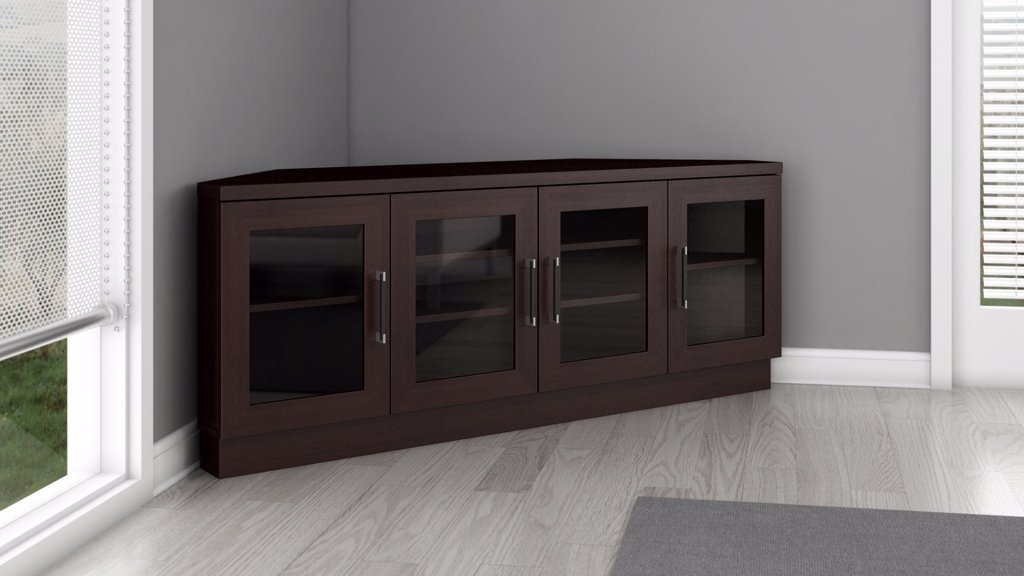 Great Trendy Black Wood Corner TV Stands In Tv Stands Corner Tv Stand 60 Inch Flat Screen Brandnew Design (Image 23 of 50)