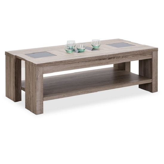 Great Trendy Cheap Oak Coffee Tables Pertaining To Oak Coffee Table With Glass Shop For Cheap Tables And Save Online (View 29 of 50)
