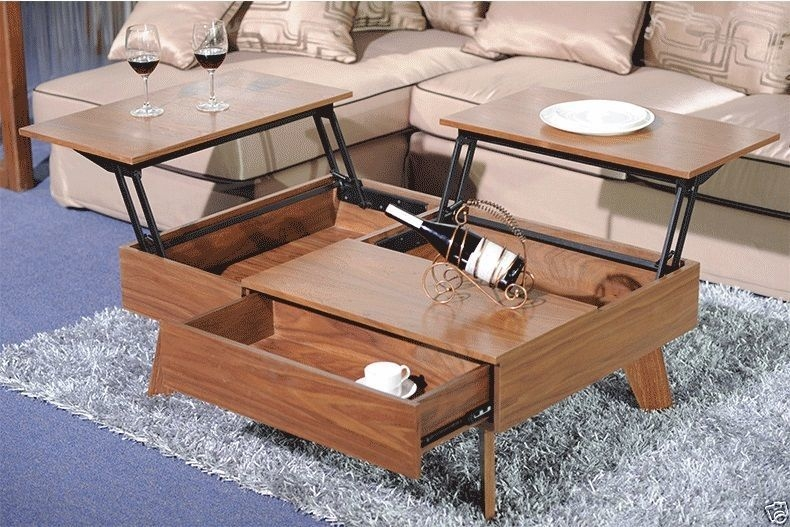 Great Trendy Coffee Tables With Lift Up Top With Stunning Raising Coffee Table How To Make A Coffee Table With Lift (Image 19 of 40)