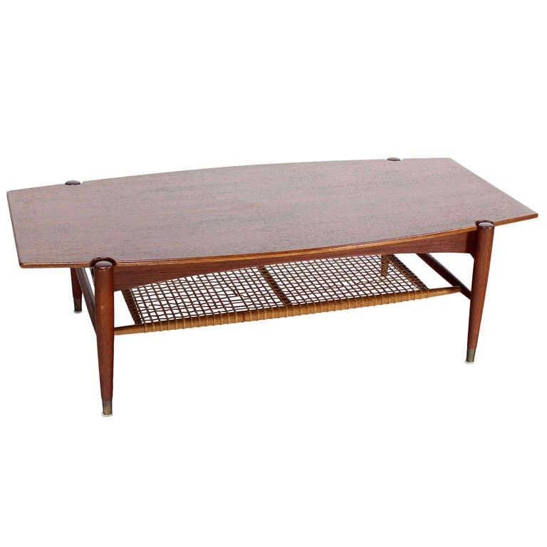 Great Trendy Coffee Tables With Magazine Rack Throughout Danish Mid Century Modern Teak Coffee Table With Magazine Rack At (View 21 of 50)