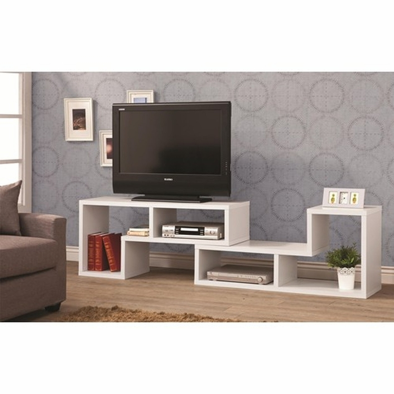 Great Trendy Contemporary Wood TV Stands Regarding White Wood Tv Stand Steal A Sofa Furniture Outlet Los Angeles Ca (Image 19 of 50)