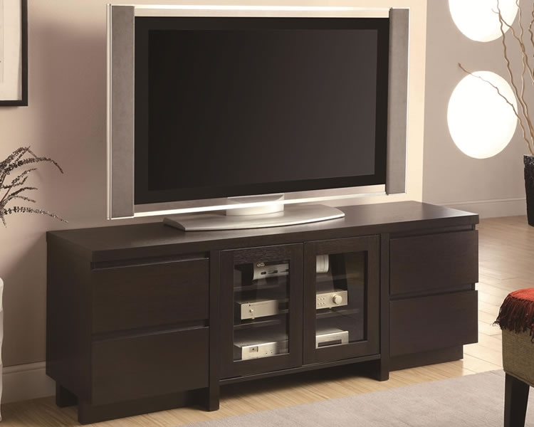 Great Trendy Expresso TV Stands Regarding Tv Stands Modern Tall Espresso Tv Stands Highboy Tv Stand (View 21 of 50)