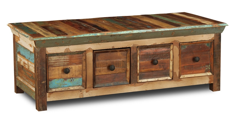 Great Trendy Indian Coffee Tables For Reclaimed Indian 4 Drawer Coffee Table Trade Furniture Company (Image 19 of 40)