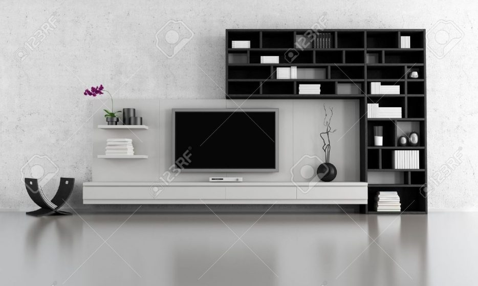 Great Trendy Large TV Cabinets Inside Living Room Superb Living Room Ideas Stock Photo Black And (View 28 of 50)