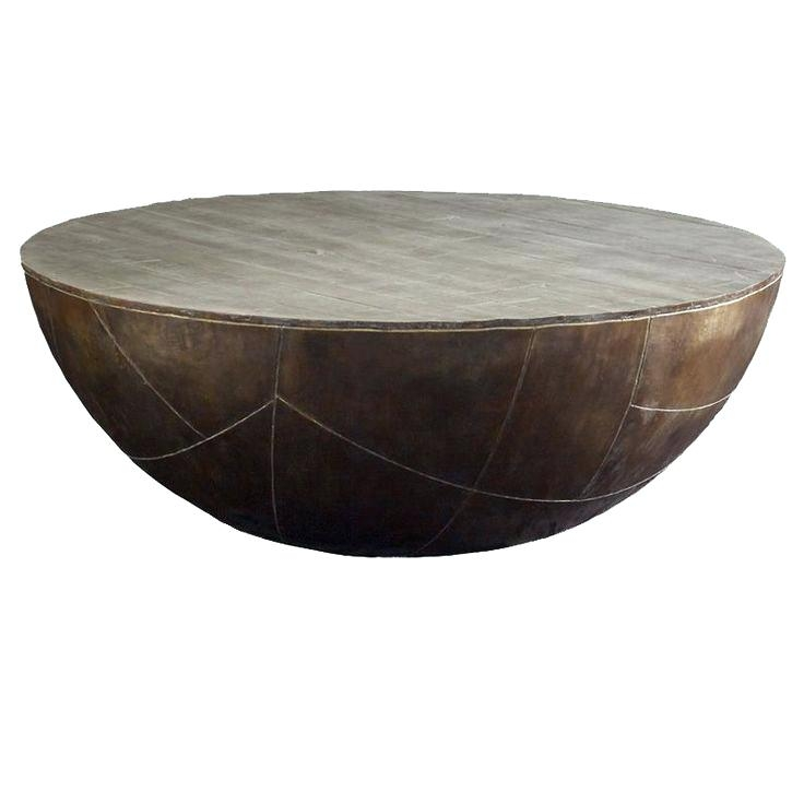 Great Trendy Silver Drum Coffee Tables Regarding Round Drum Coffee Table Dealhackrco (Image 17 of 50)