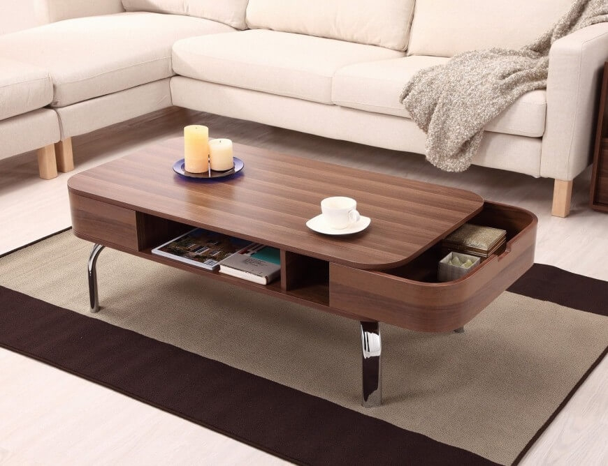 Great Trendy Square Wood Coffee Tables With Storage Throughout Perfect Square Coffee Table Sets (View 21 of 50)