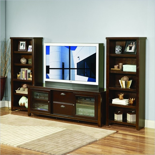 Great Trendy TV Stands And Bookshelf Intended For Tv Stands Inspire Black And White Tv Stand Bookshelf Design Ideas (View 3 of 50)