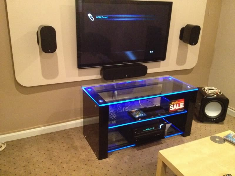 Great Trendy TV Stands With LED Lights With Regard To Adding Led Lighting To Glass Stand What Hi Fi (Image 24 of 50)