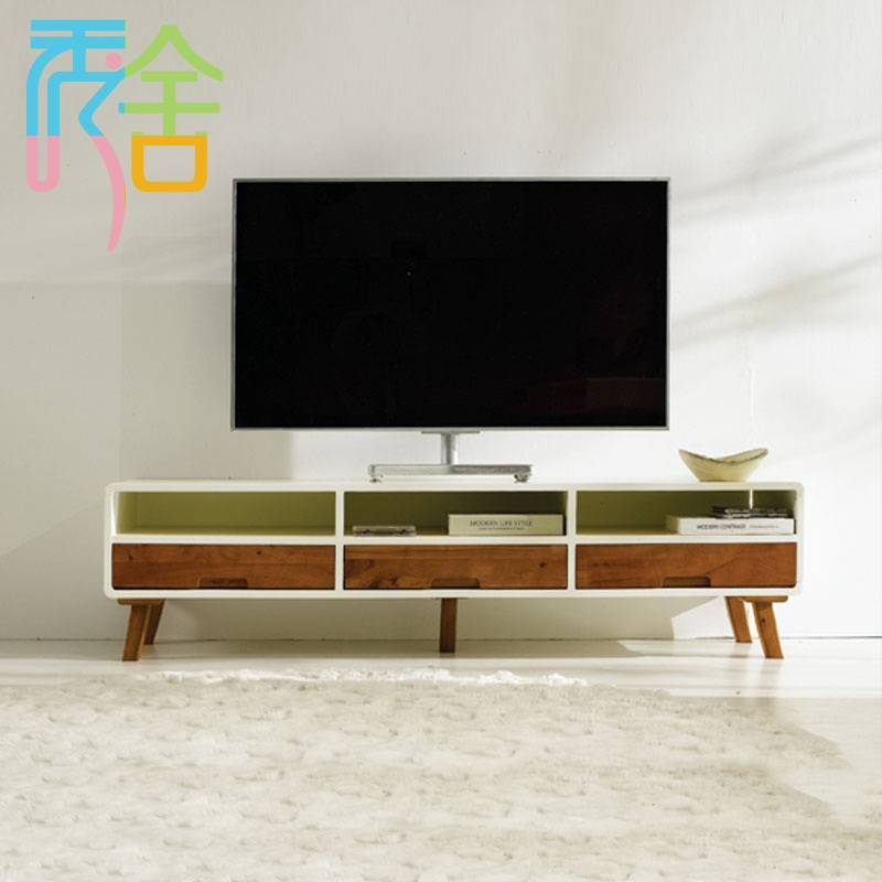 Great Trendy White Wood TV Cabinets Intended For Online Shop Show Homes Nordic Combination Of Modern Tv Cabinet (Image 25 of 50)