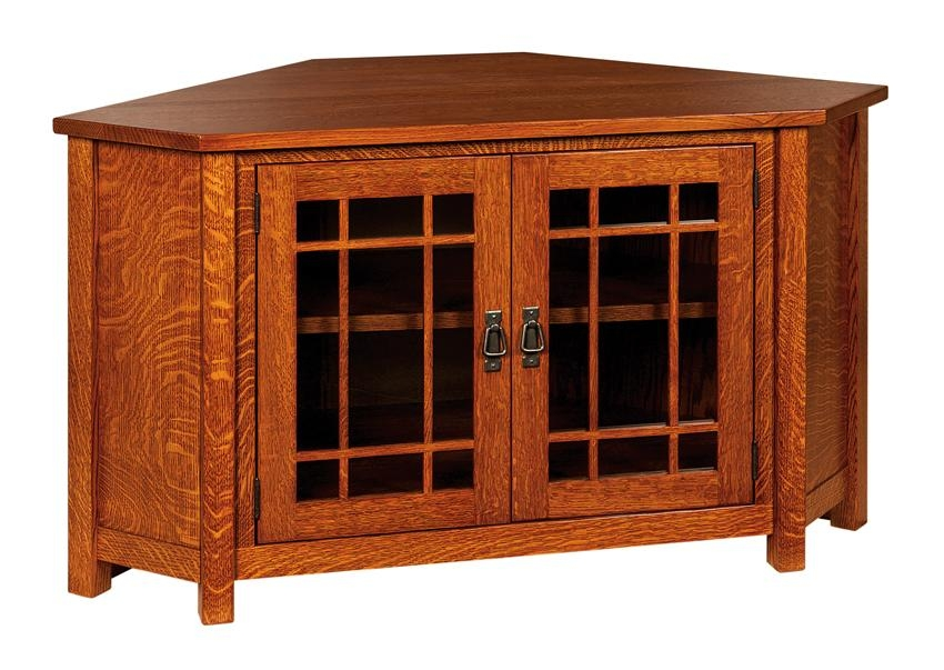 Great Trendy Wood Corner TV Cabinets Intended For Mccoy Mission Corner Tv Cabinet (Image 21 of 50)