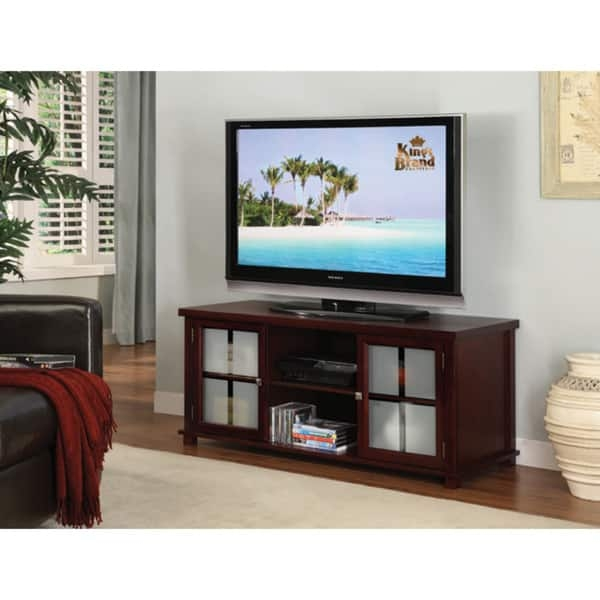 Great Unique Cherry TV Stands With Regard To Kb Dark Cherry Tv Stand Free Shipping Today Overstock (Image 27 of 50)