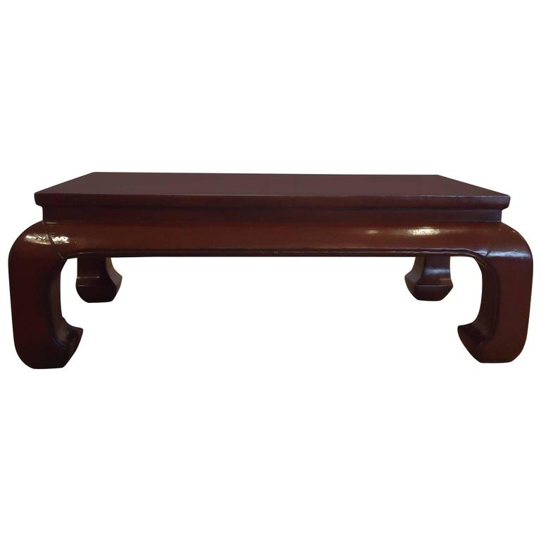 Great Unique Chinese Coffee Tables Regarding Stunning Dark Red Lacquer Chinese Coffee Table At 1stdibs (Image 27 of 50)