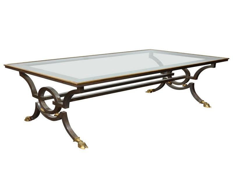 Great Unique Coffee Tables Glass And Metal Intended For Attractive Iron And Glass Coffee Table Glass Top Coffee Tables (Image 25 of 50)