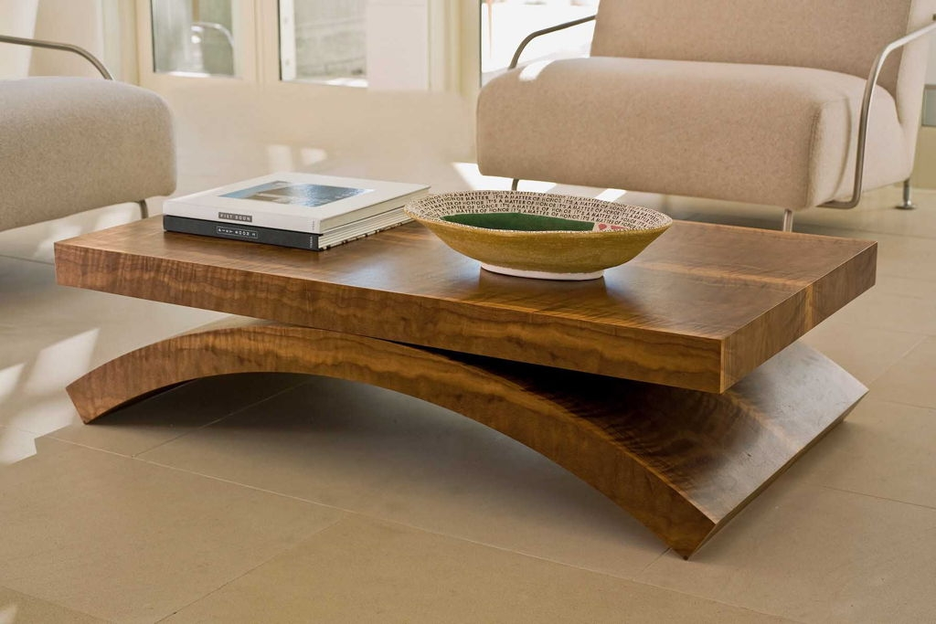 Great Unique Curve Coffee Tables In Furniture Real Oak Wood Coffee Tables Design Ideas With Square (Image 22 of 50)