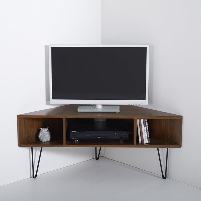 Great Unique Flat Screen TV Stands Corner Units Within Best 25 Black Corner Tv Stand Ideas On Pinterest Small Corner (Image 26 of 50)