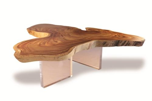Great Unique Free Form Coffee Tables Within Free Form Wood Floating Cocktail Table Clear Acrylic Free Form (Image 21 of 40)
