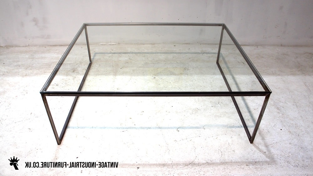 Great Unique Glass Steel Coffee Tables Intended For Best Glass Top Coffee Table With Metal Base Design (Image 25 of 50)