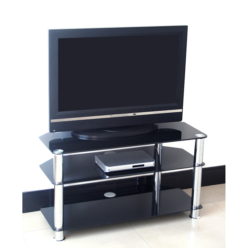 Great Unique Glass TV Stands Throughout Black Glass Tv Stand 75cm Television Stands Tv Cabinets (View 30 of 50)