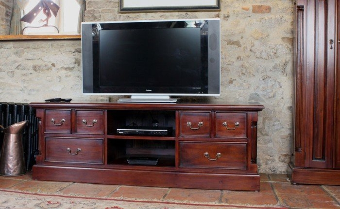 Great Unique Mahogany TV Stands Pertaining To La Roque Mahogany Tv Cabinet Imr09a (Image 28 of 50)