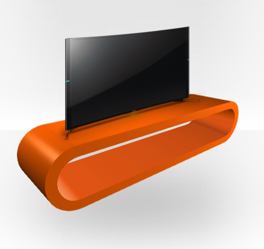 Great Unique Orange TV Stands For Orange Gloss Tv Stand Zestretch Hoop Free Uk Delivery Zespoke (Image 29 of 50)