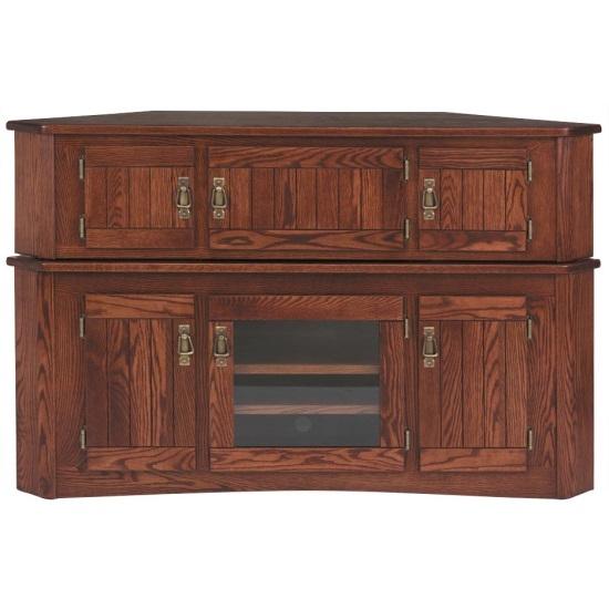 Great Unique Real Wood Corner TV Stands Inside Solid Oak Mission Corner Tv Stand Hi Boy 55 The Oak Furniture (View 34 of 50)