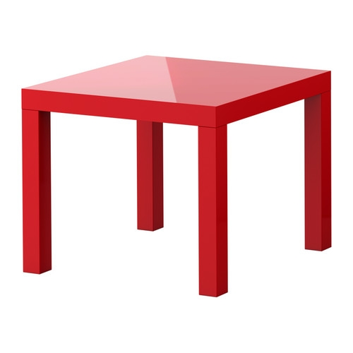 Great Unique Red Gloss Coffee Tables With Lack Side Table High Gloss Red 21 58×21 58 Ikea (Image 20 of 40)