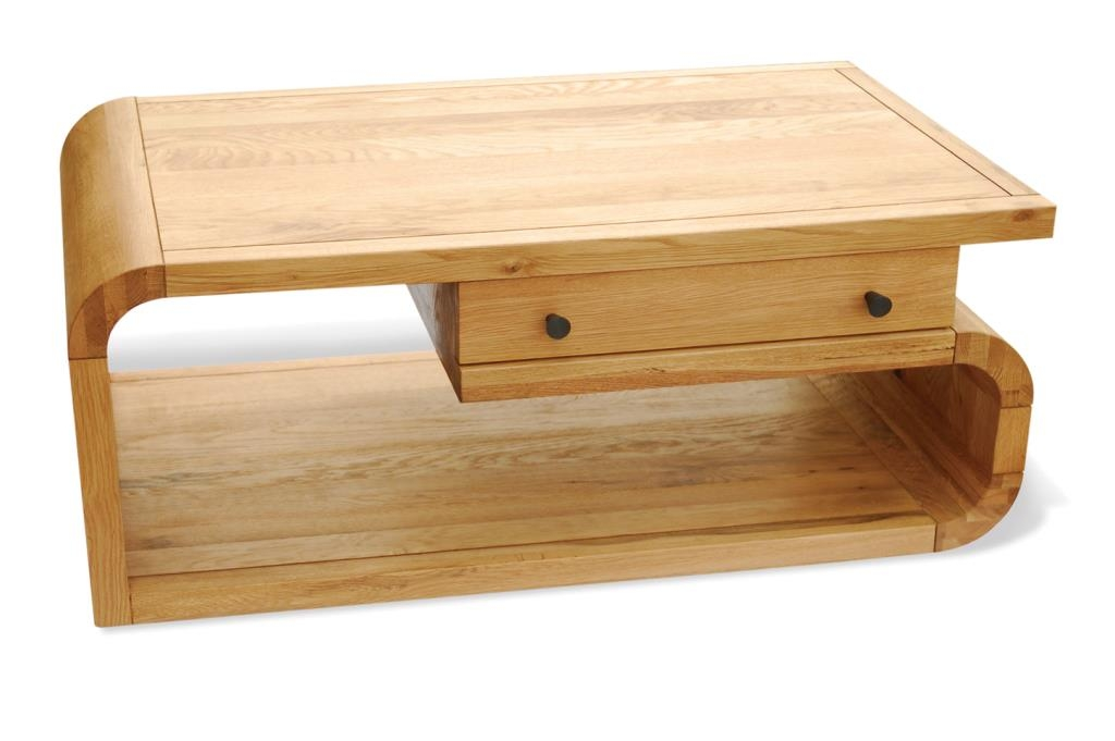 Great Unique Retro Oak Coffee Tables With Regard To Retro Oak Coffee Table With Drawer Hampshire Furniture (View 31 of 50)