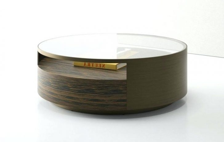 Great Unique Round Coffee Tables With Storage For Coffee Table Corbett Coffee Table Storage Ottoman Round (View 45 of 50)
