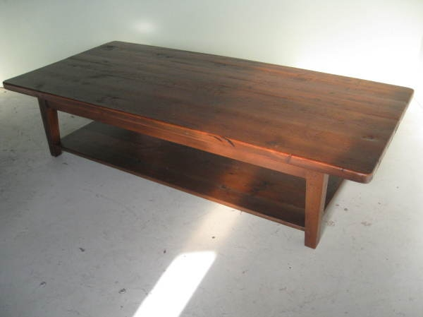 Great Unique Rustic Coffee Tables With Bottom Shelf Pertaining To Dark Rustic Coffee Table With Bottom Shelf Lake And Mountain Home (View 6 of 50)