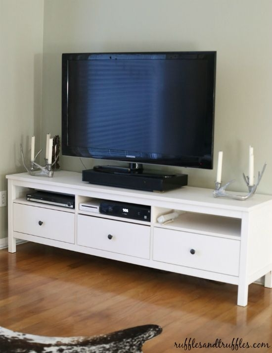 Great Unique TV Stands With Baskets With Regard To New And Improved Our Tv Stand The Ikea Hemnes Hemnes Tv (Image 26 of 50)